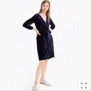 NWT Jcrew velvet wrap dress